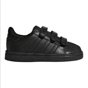 BNIB Kids Adidas superstar black